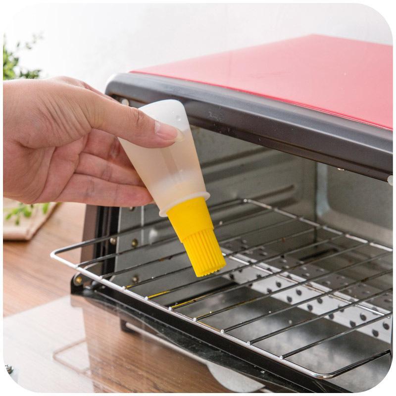 Garrafa cozinha churrasco Oil escova de silicone bolo manteiga Pão escova de pastelaria Baking Pancake alinhavo Ferramenta cores misturadas