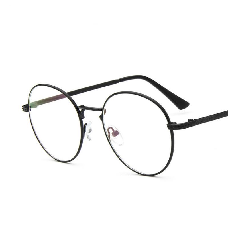 337e3652eecd12 Compre Al Por Mayor ANEWISH Ojos Gafas Marco Hombres Mujeres Vintage Miopía  Metal Retro Redondo Lentes Llanura Gafas Oculos De Grau Femininos # K3 A  $35.0 ...
