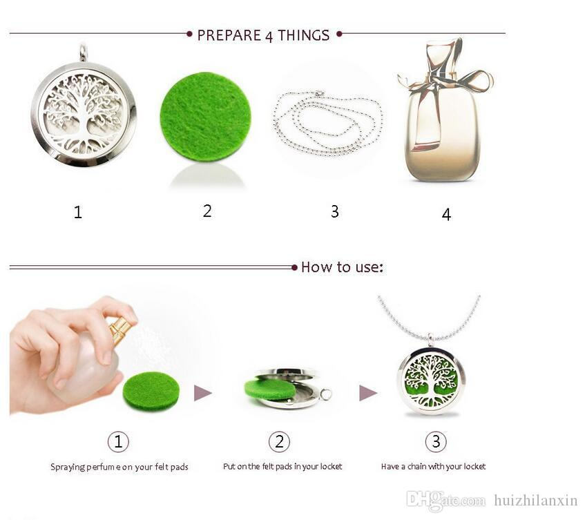 New Hand Print Car Perfume Locket Pendant 30MM 316L Stainless Steel Essential Oil Diffuser Perfume Locket With Free Pads