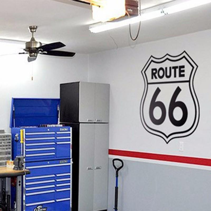 Rushed Diy Poster Vintage Signs Route 66 Number Stickers Living Room