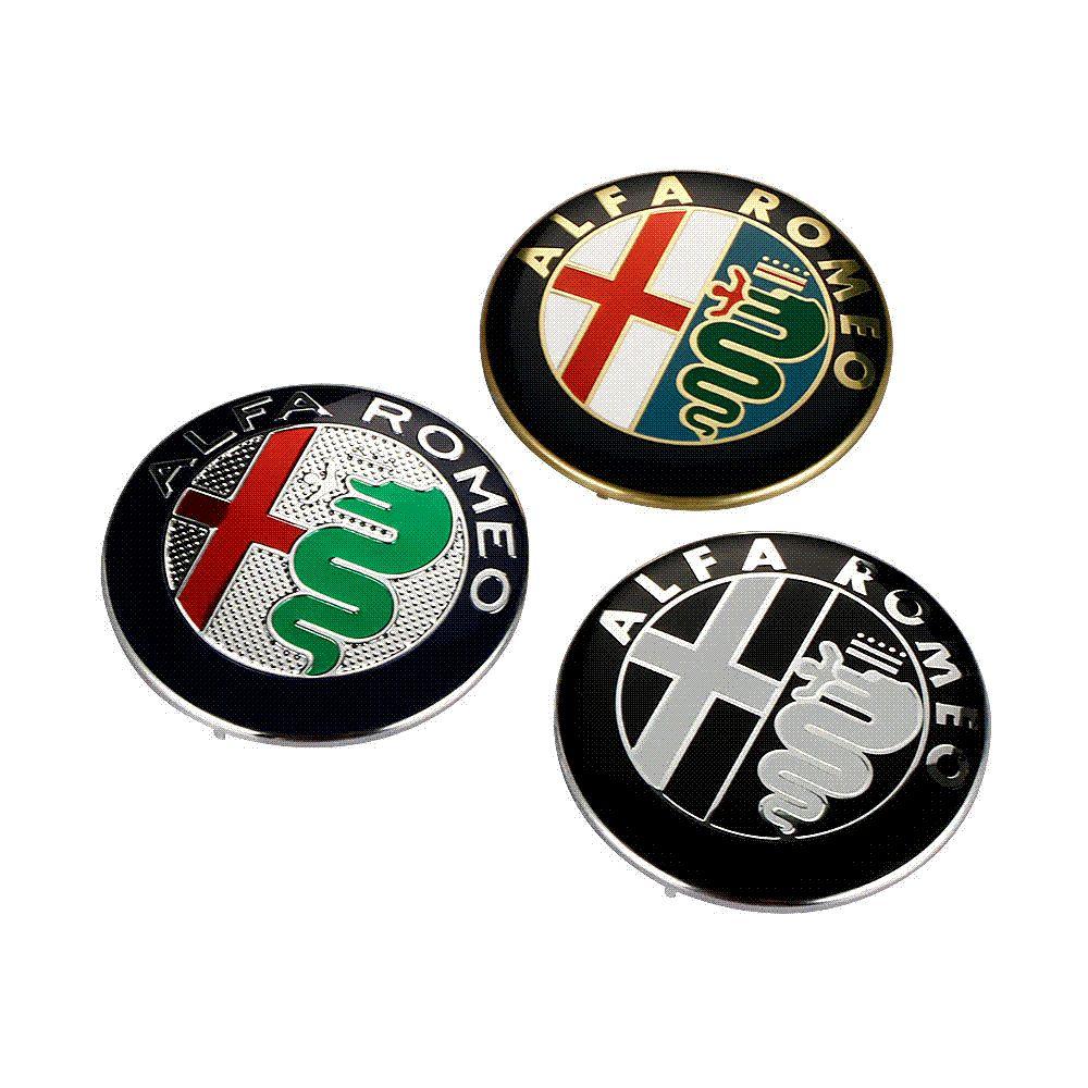 Discount Black White New 74mm 74cm Alfa Romeo Car Logo Emblem Badge Sticker For Mito 147 156 159 166 Giulietta From China