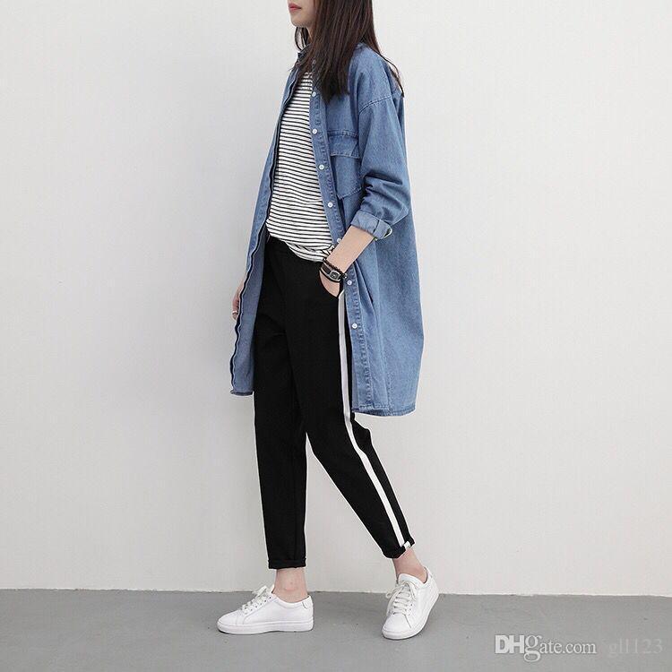 b56877f091d Online Cheap 2017 Top Fashion Women Side Stripes Harem Pants Women Black  Casual High Waist Pants Plus Size Drawstring Trousers Pantalon Femme By  Gll123 ...