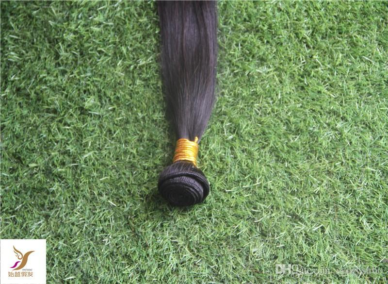 Jet-Black Virgin Brazilian Hair Weave 100% Brazilian Human Remy Straight Hair Extension 6A Double Weft Hair Weaving 100g/