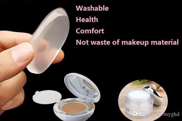 2017 прозрачный силиконовые лицо Фонд инструмент желе порошок puff up clear powder puff артефакт BB крем основа макияж инструменты