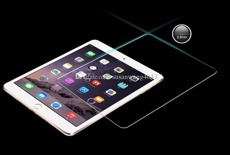 Filme de vidro temperado claro para ipad 2 3 4 mini ar 2 pro 9 H 2.5D HD claro à prova de explosão Anti-Scratch protetor de tela peles BFM002