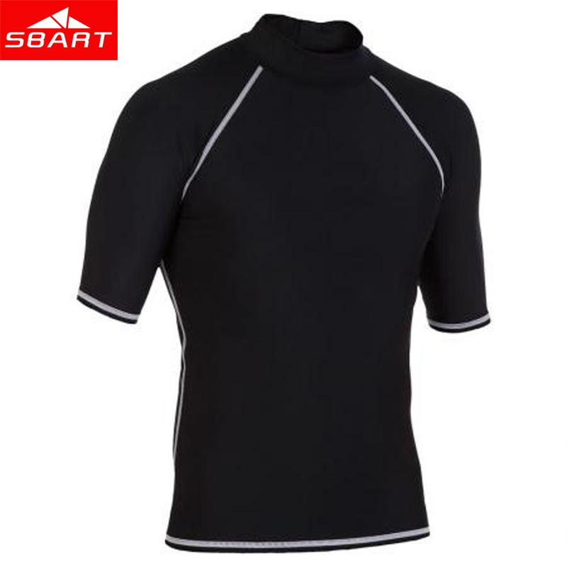 8db9e732152e 2018 Sbart Summer Short Sleeve Sunscreen Rash Guards Men Black Swim Wear  Shirt Man Surfing Spearfishing Swimwear Tops Anti Uv Windsurf From Yjc7210