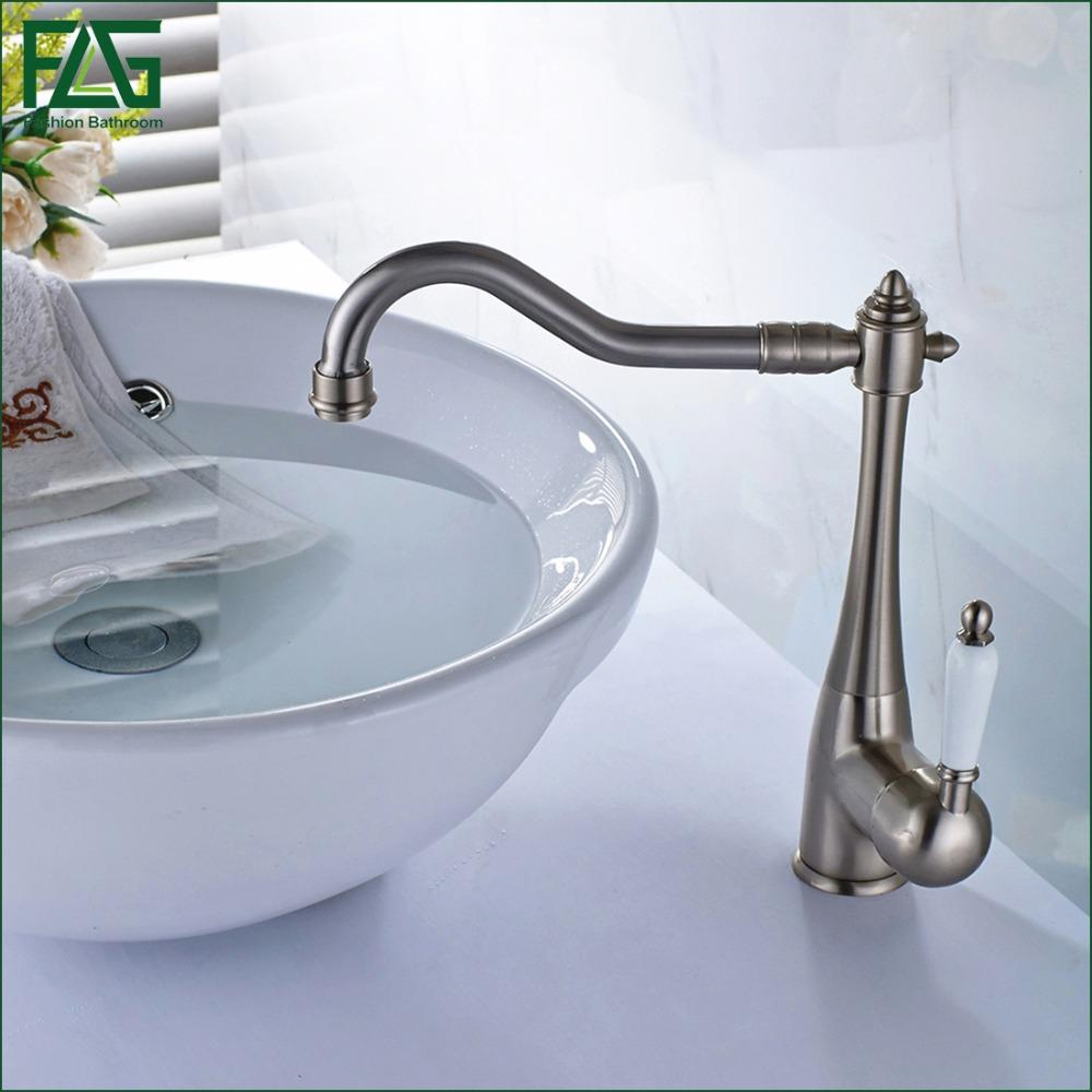 2018 Wholesale Flg Euro Basin Faucet Sink Faucet Brushed Nickel Cold ...