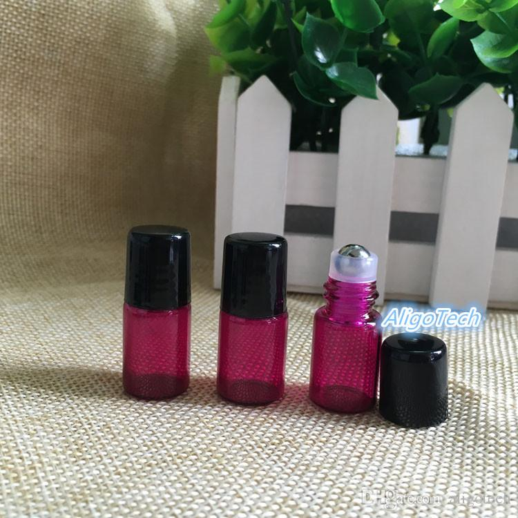 Mix 2ml Small Glass Colorful Roller Bottles 2CC Glass Roll-On Fragrance Perfume Bottles Refillable & Portable Roll On Bottle