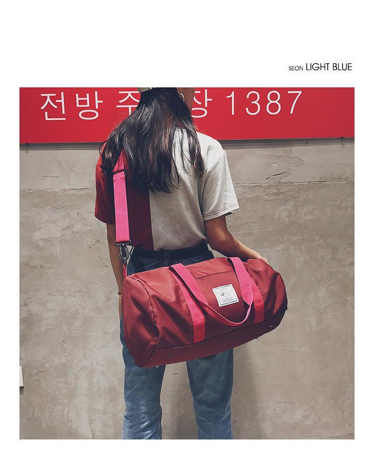 2b1f9149fc New Travel Cylinder Bags Men And Women Sports Fitness Bag Short Distance  Travel Waterproof Travel Bag Shoulder Messenger Bag Couple Cheap Designer  Handbags ...