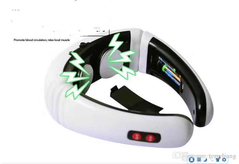 Casa Pulso Elétrico Massageador de Volta Vértebra Massageador Tratamento Tratamento Terapia Vibração Travesseiro Relaxar Massagem Cuidados de Saúde Ferramenta de Relaxamento