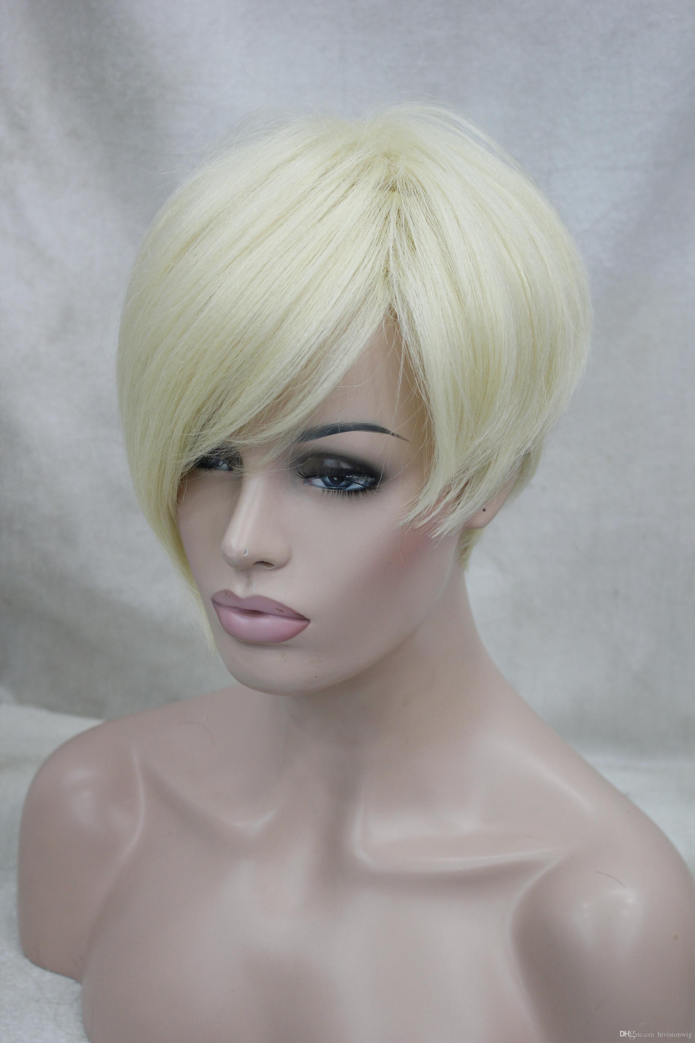 !Hivision 2017 New Fashion High End Asymmetric Fashion Model Blonde Everyday  Life Wigs Best Hair Wigs Wigs Black Women From Hivisionwig daa8189a93da