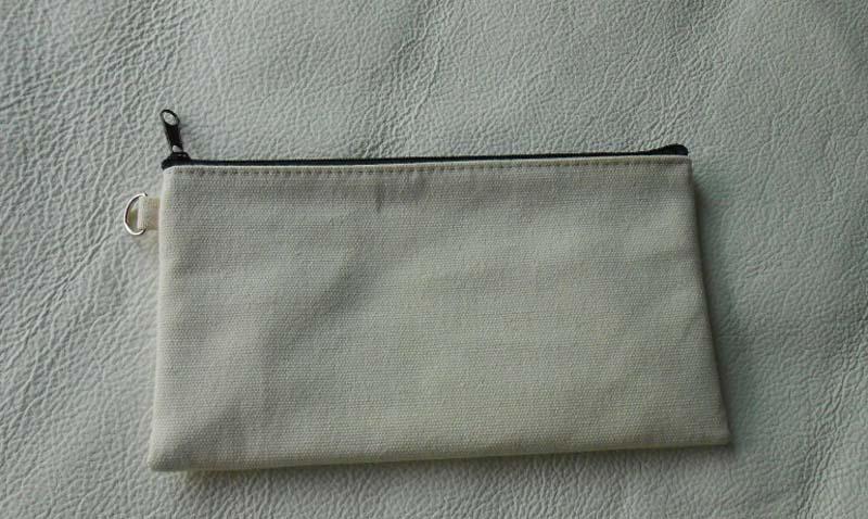 19.5 * 11cm Sacs de crayon en toile de coton noir DIY Boy Girl vierge fermeture à glissière cosmétique sac téléphone embrayage sac fournitures de bureau