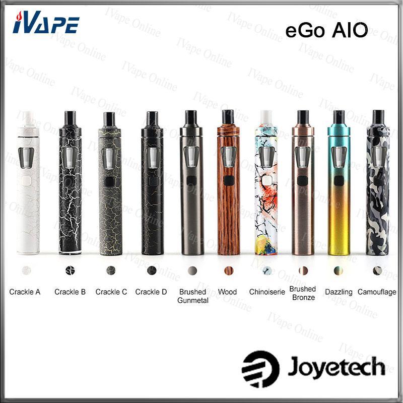 100% Original Joyetech eGo AIO Kit Nova Cor Versiion 2 ml Com 1500 mah Bateria Anti-vazamento Primeiro Sistema de Bloqueio de Tanque À Prova D 'Água All-in-one