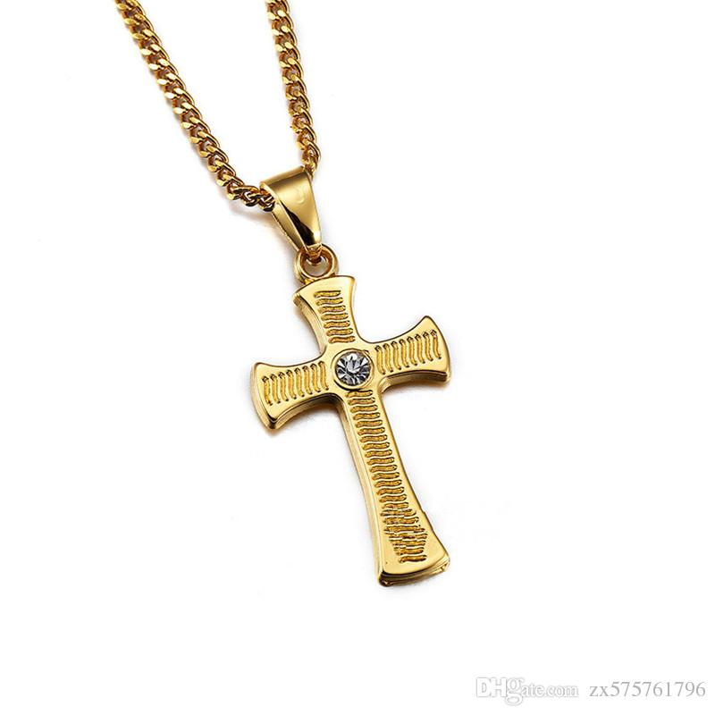 Mens charm fashion hip hop gold cross pendant choker necklaces mens charm fashion hip hop gold cross pendant choker necklaces rhinestone jewelry chains men pendants for necklaces 23 inch charm necklaces cross necklace mozeypictures Gallery