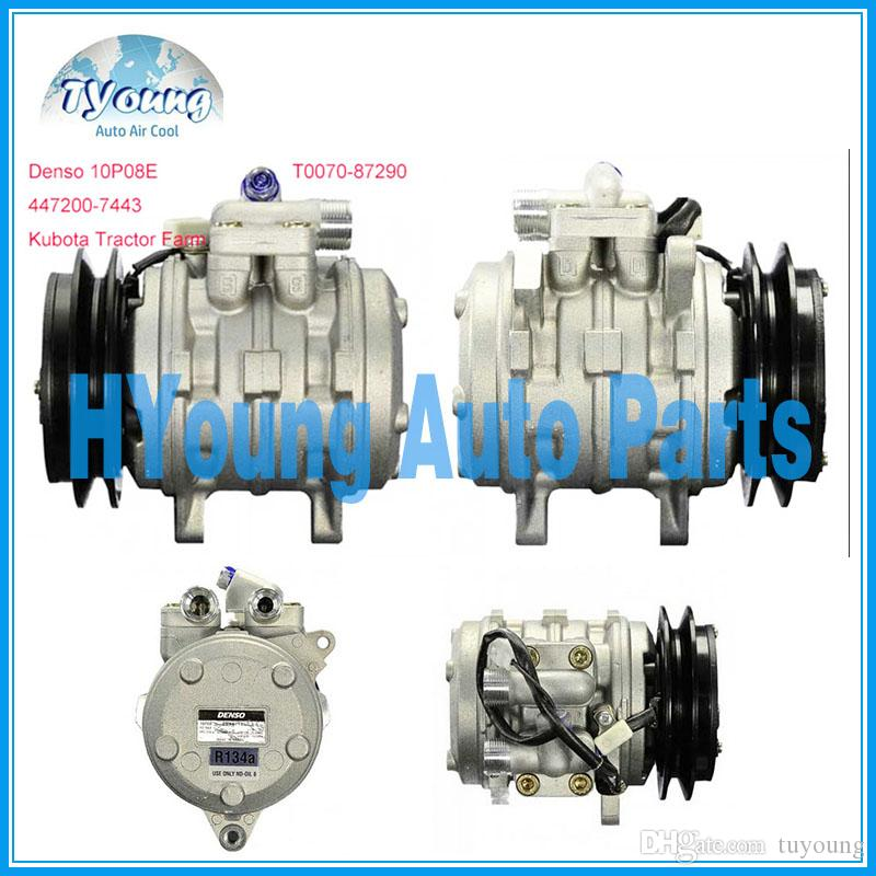 Auto ac compressor for 10P08E Kubota Tractor Farm PN#T0070-87290  447200-7443 air pump ac parts