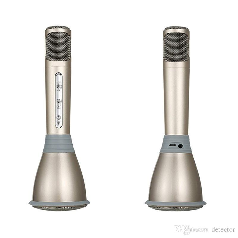 2 in 1 K068 Wireless speaker microphone with Mic Speaker Condenser Mini Karaoke Player KTV Singing Record for Smart Phones Computer in stock
