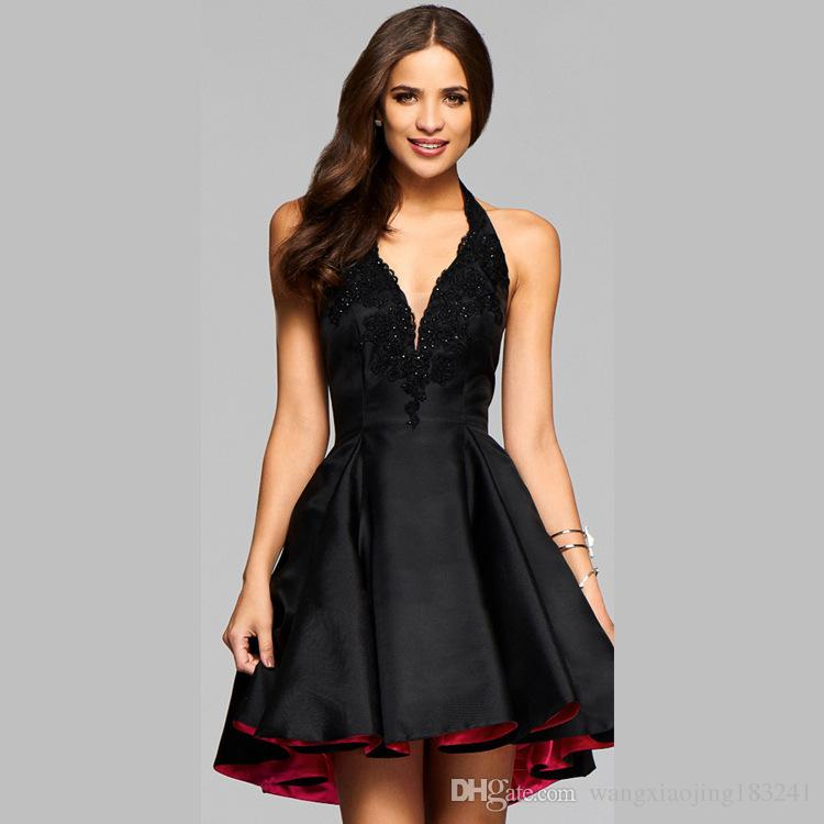 Black Mini Cocktail Dress