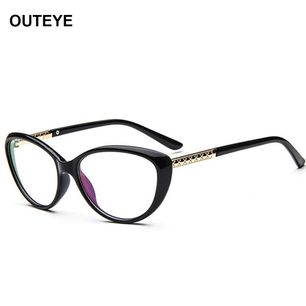 0578da655b 2019 Wholesale OUTEYE Vintage Cat Eye Glasses Frame Men Women Eyeglasses  Optical Frame Goggles Plain Clear Lens Oculos Feminino De Grau W2 From  Value333