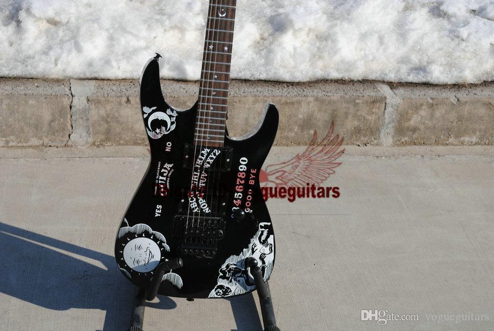 El más nuevo KH-2 Kirk Ouija negro PALABRAS guitarra eléctrica OEM guitarras envío gratis