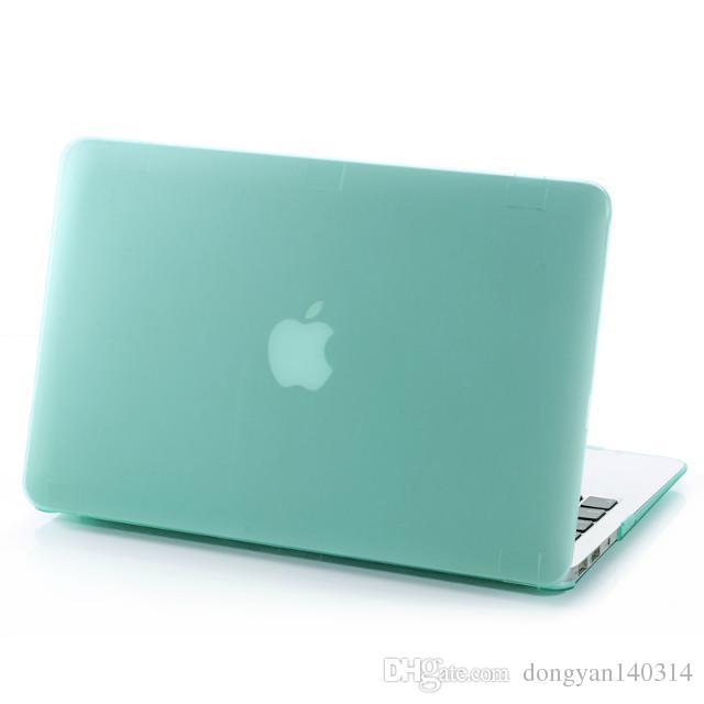 Matte Frosted Hartplastik Schutzhülle für 11 12 13 15 Zoll MacBook Air Pro Retina Laptop Crystal gummierte Schutzhülle Shell