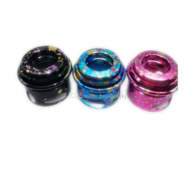 Nuovi Apocalypse GEN 2 RDA atomizzatori Pattern colorati con ampio foro Drip Tip 24 millimetri PEEK Isolatori Fit 510 E Cigarette alta qualità