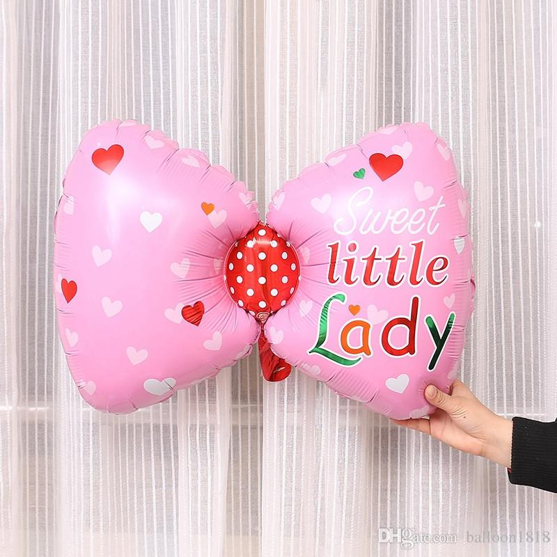 bow tie aluminum foil balloon baby boy girl birthday ballon inflatable balloon birthday helium balloon decoration