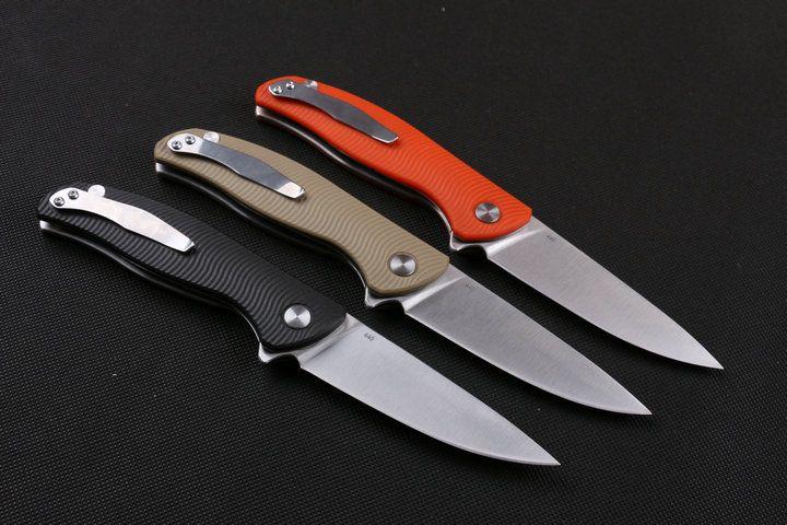Пользовательские ножи - Флиппер нож Surivival складной нож 440C 58HRC Сатин отделка лезвие шарикоподшипник Liner Lock