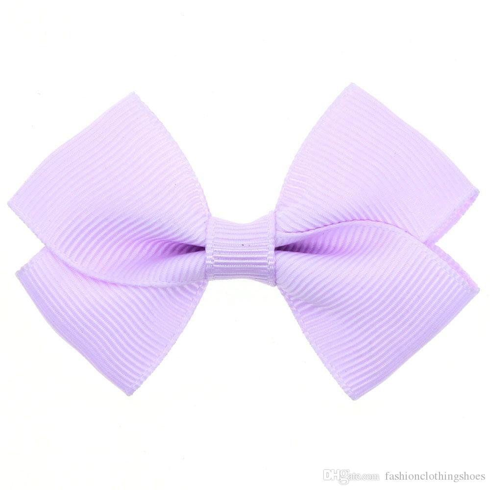 Hair Accessories Wholesale Solid Bowknot Hair Clips Satin Hairpins Cloth Duckbill Clips Baby Girls Barrettes