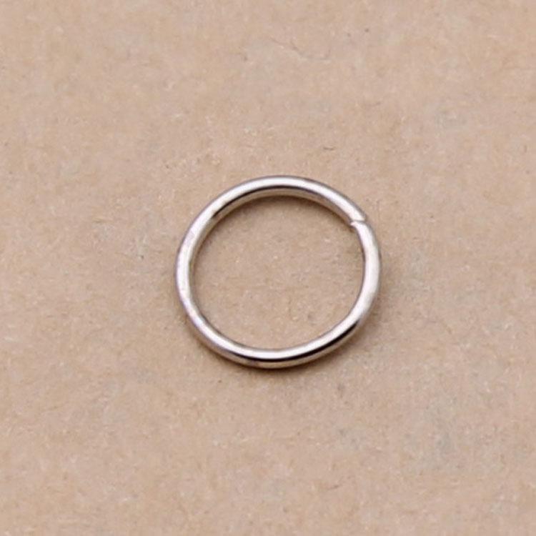 1000 piezas Juego de 5/6/7/8/9 mm Corte abierto Conectores de anillo de salto Hallazgos Rebordear suministros es Diámetro: 0.7 / 1 mm