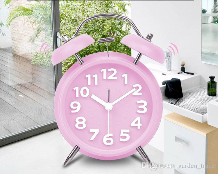 hot sellingAuthentic fit to fly lazy snooze Creative Kids machinery doubles bell alarm clock winding small bedroom alarm clock