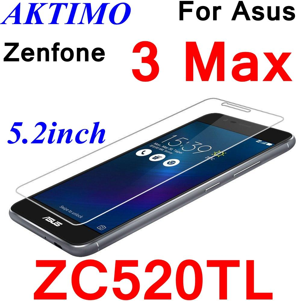 Wholesale- 3 Max ZC520TL 5 2inch Case 9H Tempered Glass For Asus Zenfone 3  Max ZC520TL 5 2inch Screen Protector Film Case Sklo