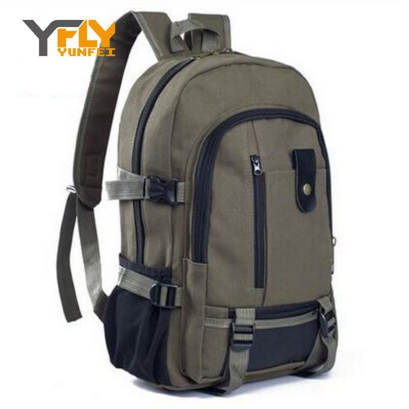 c3fd9c1486d1 Wholesale- Y-FLY 2016 Hot Sale Top Canvas Men's Backpacks Men Vintage  Canvas Backpack Rucksack School Bags Satchel Men's Travel Bags DB3830