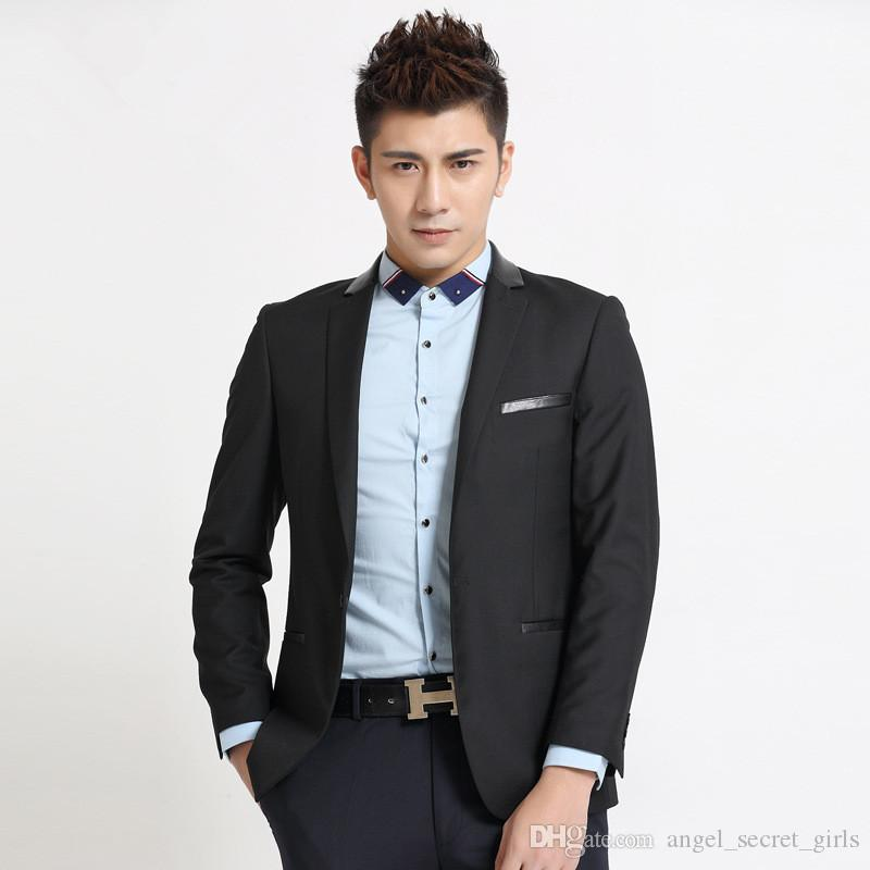 Latest Design Men Suits Jacket One Button Black Formal Work Suits ...