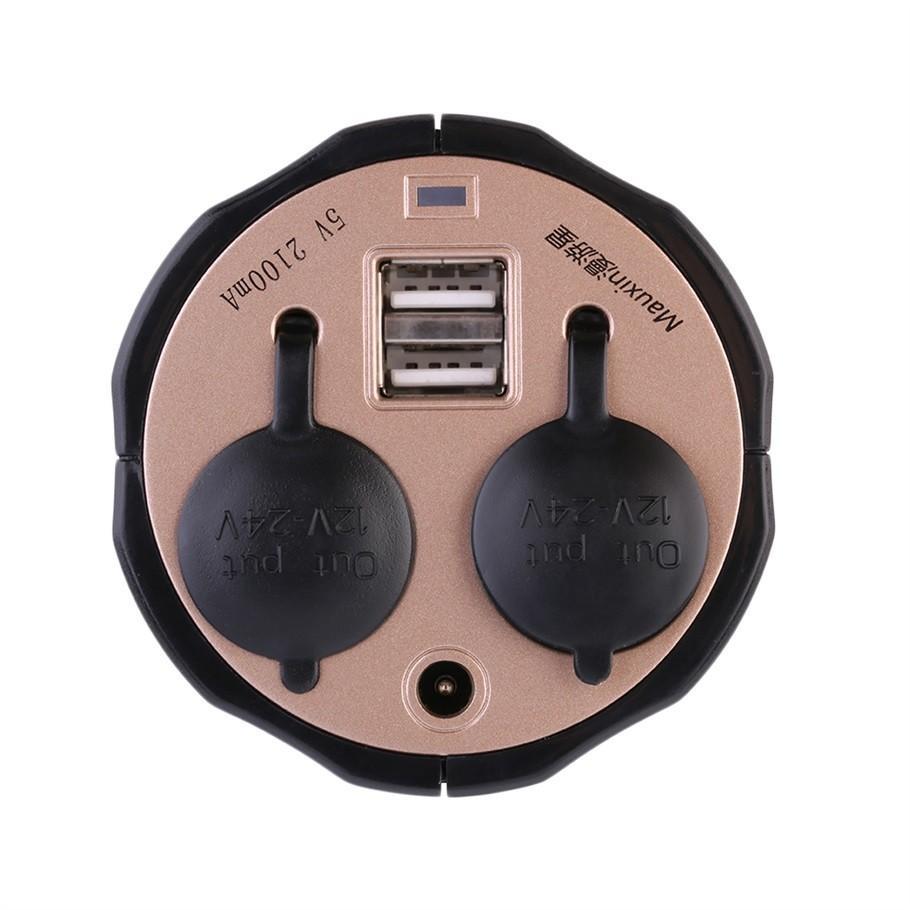 2 طريقة السيارات المقبس الفاصل سيارة ولاعة السجائر المقبس الخائن شاحن محول الطاقة + المزدوج منفذ USB ميناء التوصيل DC 5V-12V