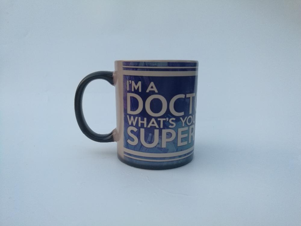 Wholesale I Am A Doctor MugsWhatS Your Superpower Birthday Gifts Mugs Home Decal Heat Reveal Magic Coffee Mug Changing Color Shop