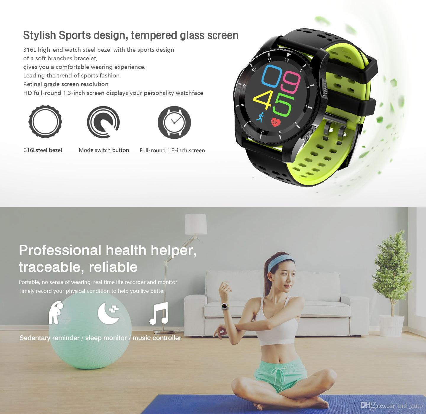 FITBIT Smart Watch Boold Pressure Smartband Heart Rate Fitness Tracker Bracelet UV/Air Pressure/Altitude Testing Watch GS8 For IOS & Andriod