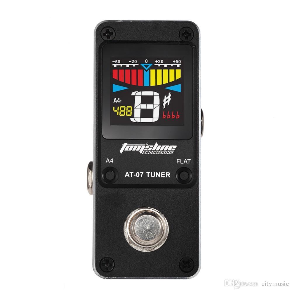 AROMA AT-07 9V Black Mini Chromatic Tuner Effect Pedal Mini singoli effetti chitarra elettrica