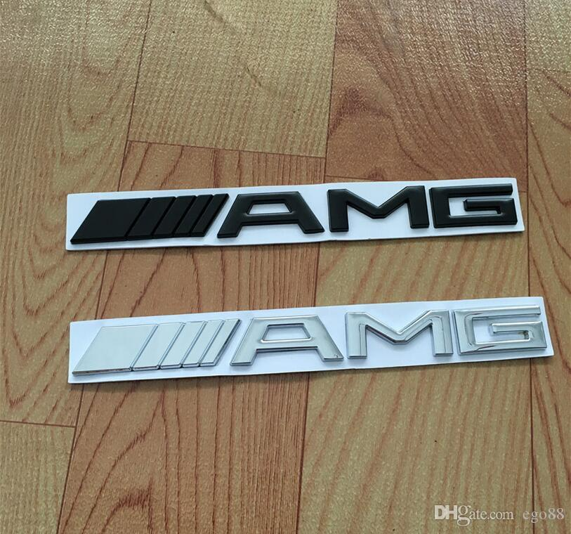 Metal Silver Chrome Black M AMG Decal Sticker Logo Emblem Car - Best car sticker logo