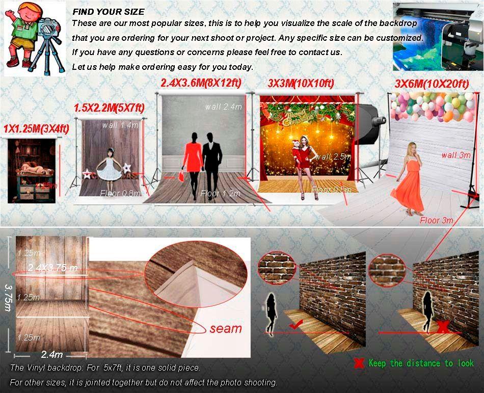 Vinyle personnalisé Photographie Toiles de fond Props Printed thème Enfants Photo Studio Contexte GC-5150