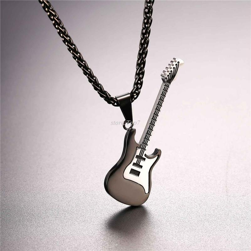 Wholesale guitar necklace for menwomen music lover gift blackgold wholesale guitar necklace for menwomen music lover gift blackgold color stainless steel pendant chain hip hop rock jewelry p810 turquoise jewelry aloadofball Choice Image