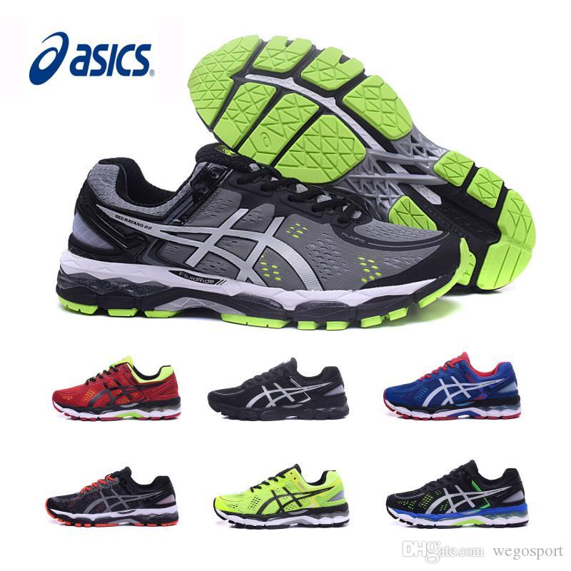 2018 2017 Original New Asics Gel Kayano 22 Wholesale Running Shoes Men  Black Gray Green Blue Basketball Shoes Boots Sport Sneakers Size 40.5 45  From ...