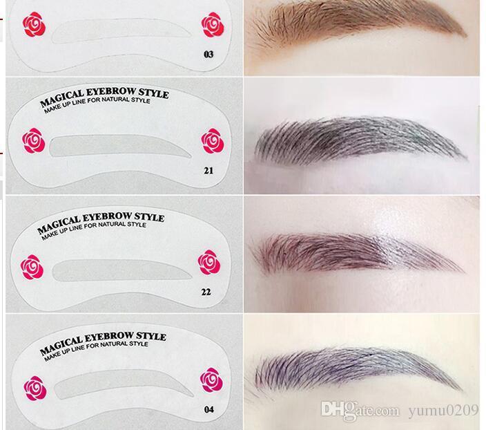 Korean Word Eyebrow Eyebrow Thrush Card Straight Flat ...