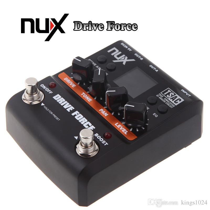 NUX Drive Force Guitar Effect Modeling Stomp Simulator Electric Effectors  Pedals 10 Models Color Screen