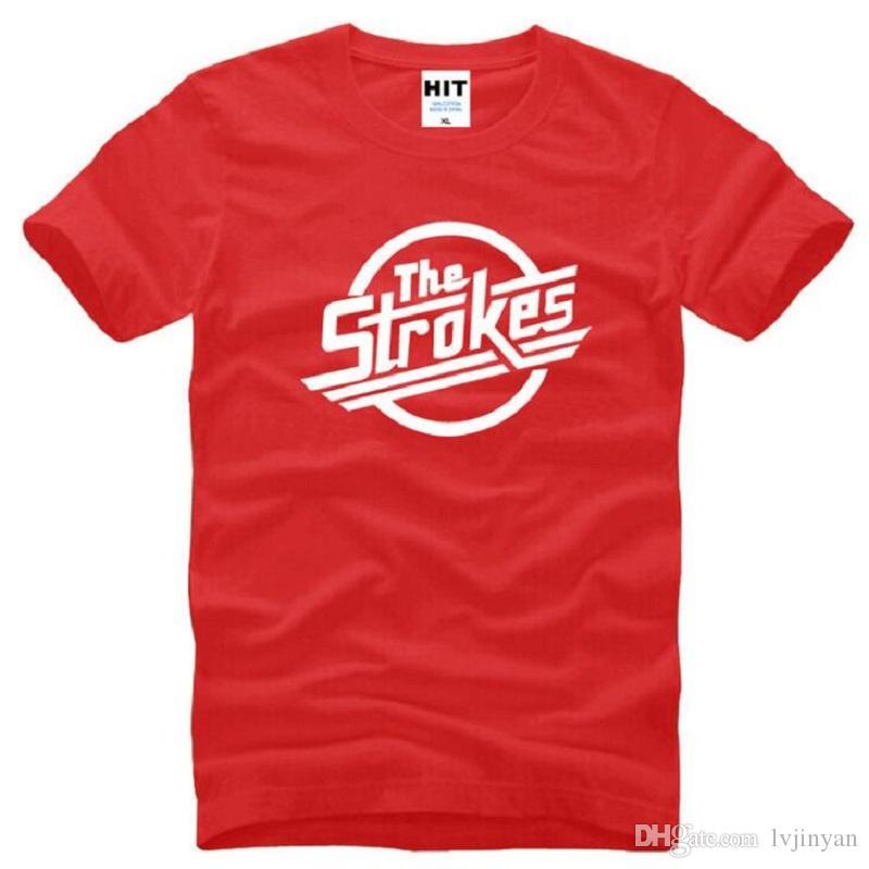 Yeni Tasarımcı Strokes T Shirt Erkekler Pamuk Kısa Kollu Indie Rock Band erkek T-Shirt İngiliz Tarzı Erkek Müzik Kaya Tee Gömlek