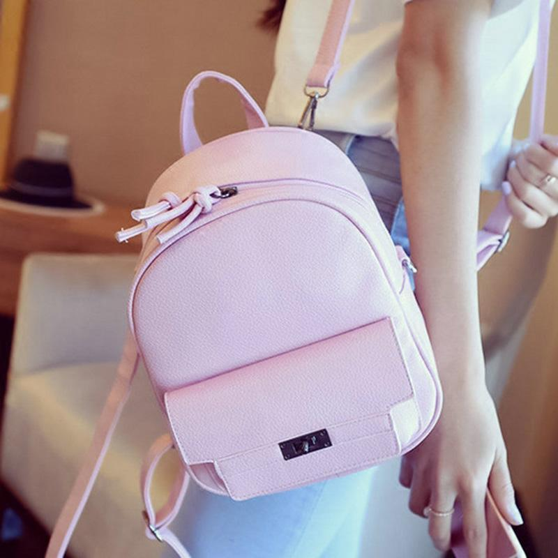 f9a3ac3a6096 Nice LEFTSIDE Back Pack Women PU Leather Backpack For School Teens Girls  Bags Cool Small Bag Pack Women Multifunction Crossbody Bag Back Pack  Mochilas ...
