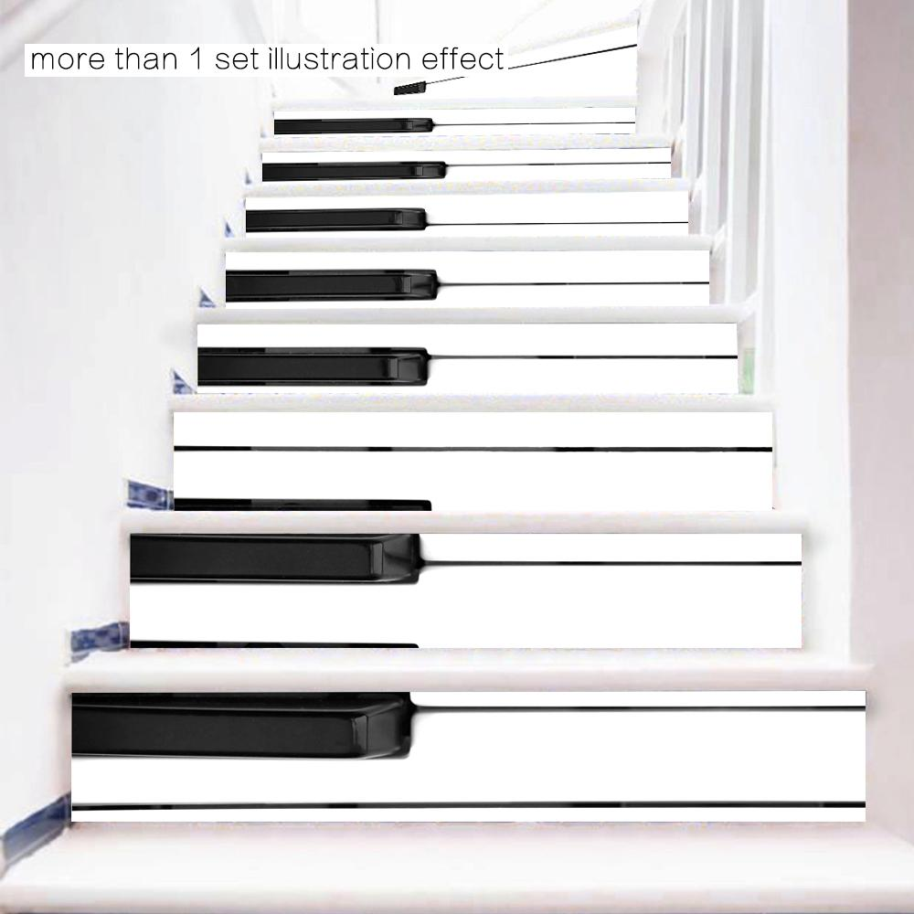 3D DIY Steps Sticker Piano Key Stairs Sticker Removable Stair Sticker Home  Decor Ceramic Tiles Patterns Beautiful Stickers