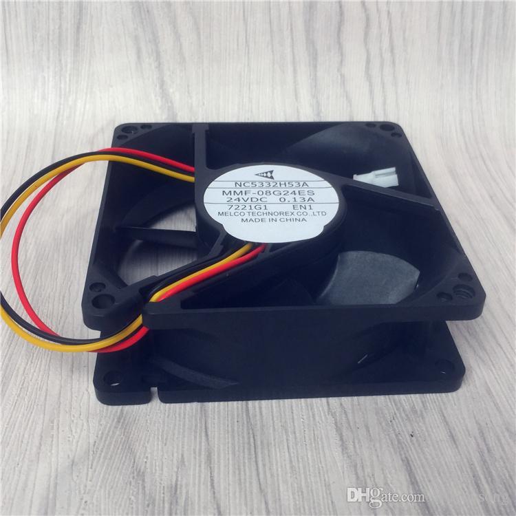 새로운 냉각 팬 미쓰비시 팬 NC5332H53A 용 Melco MMF-08G24ES EN1 8025 8cm DC 24V 0.13A 서버 인버터 냉각 팬