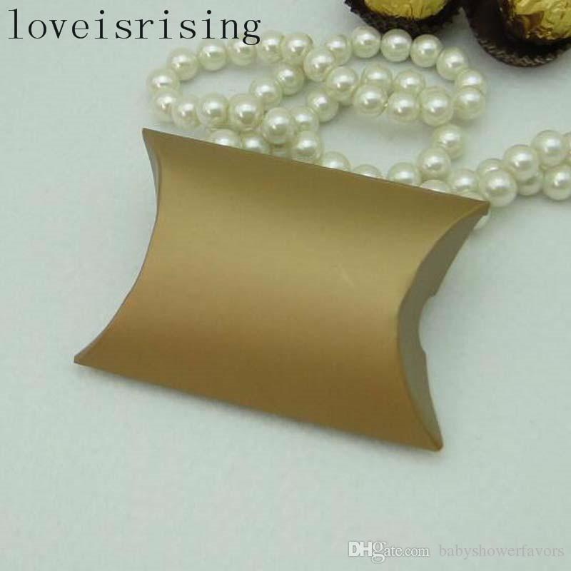 HEIßER VERKAUF - 100 Stücke Silber gold farben Schöne Kissen pralinenschachtel Geschenkbox Für Baby Shower Hochzeit Bevorzugt Kästen Liefert