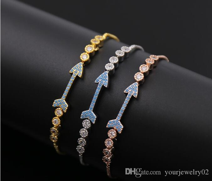 2017 Wholesale Turkey Style Cupid Bow Bracelet AAA CZ Pave Nice