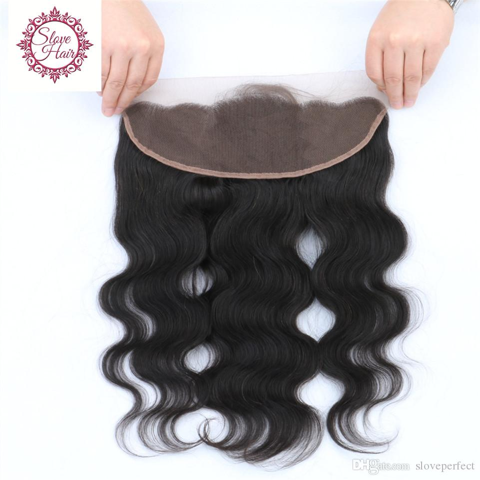 Best Lace Frontal Closure Brazilian Virgin Hair Body Wave Lace Frontals With Baby Hair Ear To Ear Full Frontal Lace Closure 13x4